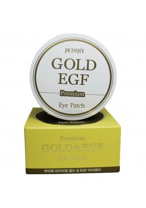 Гидрогелевые патчи для глаз с золотом и EGF Premium Gold & EGF Eye Patch 60 шт (Petitfee)
