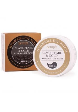 Гидрогелевые патчи для глаз с черным жемчугом и золотом Black Pearl & Gold Hydrogel Eye Patch 60 шт (Petitfee)
