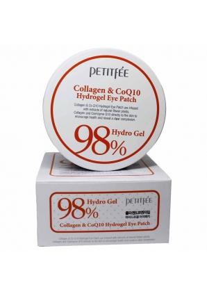 Гидрогелевые патчи для глаз с коэнзимом Collagen & CoQ10 Hydrogel Eye Patch 60 шт (Petitfee)