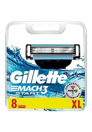 Сменные кассеты Gillette Mach3 Start 8 шт (Gillette)