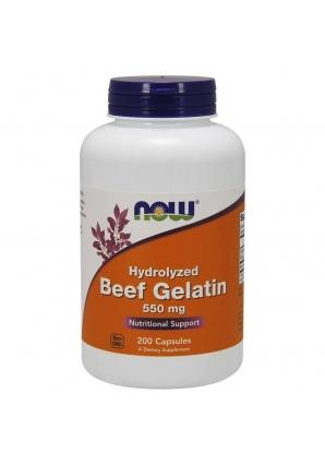 Hydrolyzed Beef Gelatin 550 мг 200 капс (NOW)