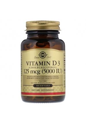 Vitamin D3 5000 МЕ 100 капс (Solgar)