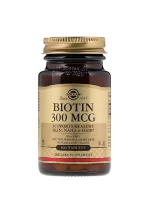 Biotin 300 мкг 100 табл (Solgar)