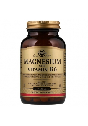 Magnesium with Vitamin B6 250 табл (Solgar)
