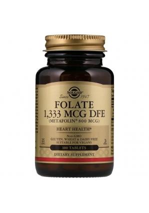 Folate 1333 мкг DFE 100 табл (Solgar)