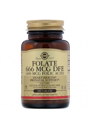 Folate 666 мкг DFE 250 табл (Solgar)
