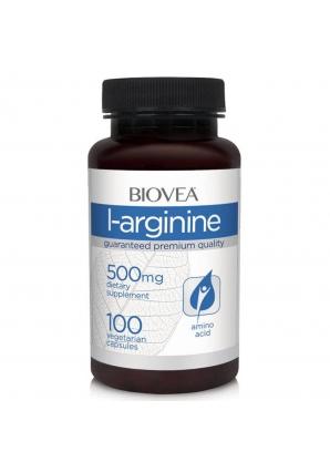 L-arginine 500 мг 100 капс (BIOVEA)