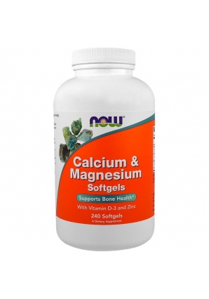 Calcium & Magnesium with Vitamin D-3 and Zinc 240 капс (NOW)