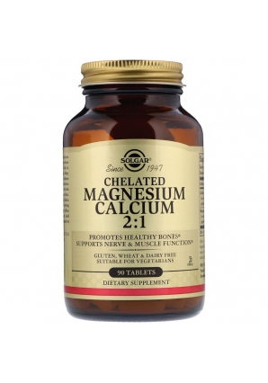 Chelated Magnesium Calcium 2:1 90 табл (Solgar)