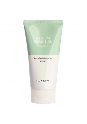 Пенка-скраб для лица Natural Condition Scrub Foam 150 мл (The Saem)