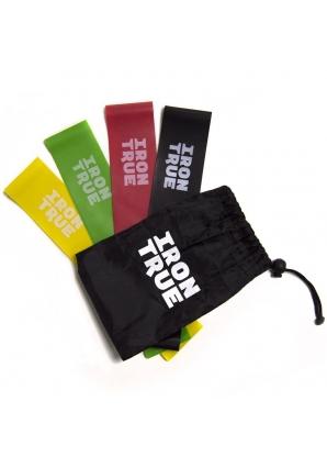Резинки для фитнеса 25 см, набор 4 шт (IronTrue)