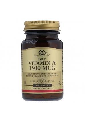 Dry Vitamin A 1500 мкг 100 табл (Solgar)