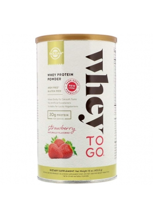 Whey To Go Whey Protein Powder Strawberry 453 гр (Solgar)