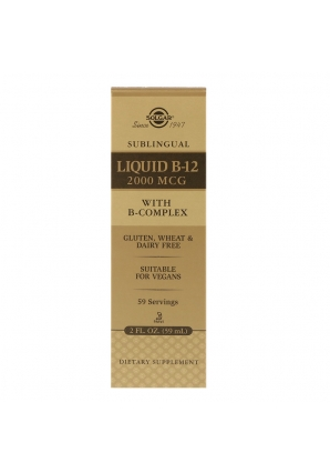 Sublingual Liquid B-12 2000 мкг 59,2 мл (Solgar)