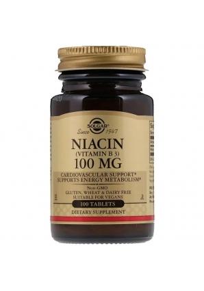 Niacin (Vitamin B3) 100 мг 100 табл (Solgar)