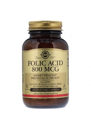 Folic Acid 800 мкг 250 капс (Solgar)