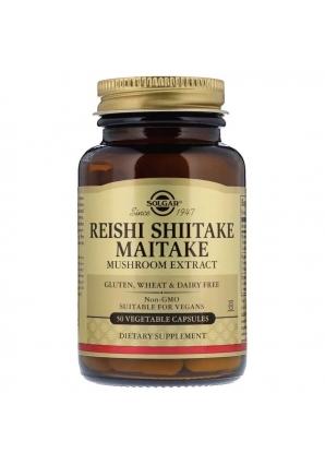 Reishi Shiitake Maitake Mushroom Extract 50 капс (Solgar)