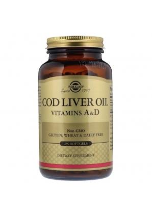 Cod Liver Oil Vitamins A & D 250 капс (Solgar)
