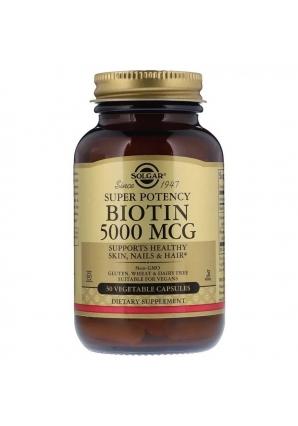 Biotin 5000 мкг 50 капс (Solgar)