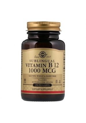 Sublingual Vitamin B12 1000 мкг 250 табл (Solgar)