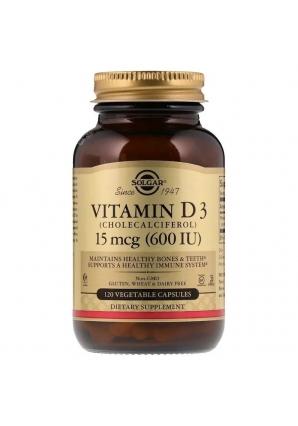 Vitamin D3 15 мкг (600 МЕ) 120 капс (Solgar)
