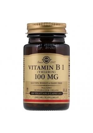 Vitamin B1 (Thiamin) 100 мг 100 капс (Solgar)