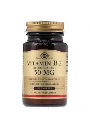 Vitamin B2 (Riboflavin) 50 мг 100 табл (Solgar)