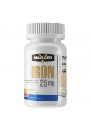 Iron 25 мг 90 капс (Maxler)
