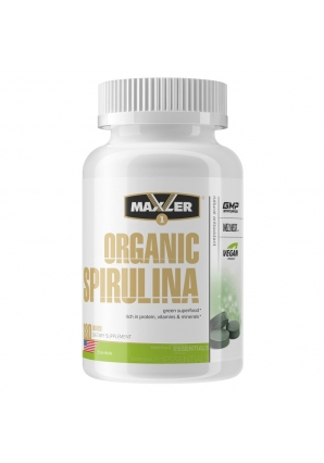 Organic Spirulina 180 табл (Maxler)