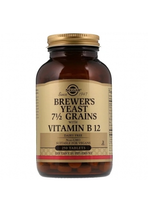 Brewer's Yeast 7 1/2 Grains with Vitamin B12 250 табл (Solgar)