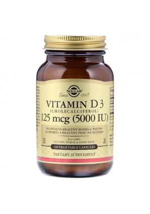 Vitamin D3 125 мкг (5000 МЕ) 120 капс (Solgar)