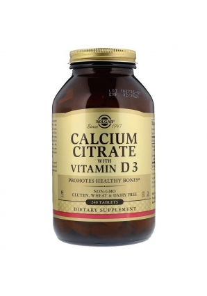 Calcium Citrate with Vitamin D3 240 табл (Solgar)