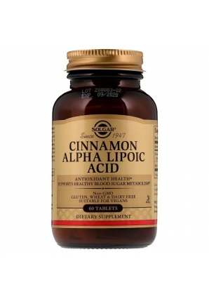 Cinnamon Alpha Lipoic Acid 60 табл (Solgar)