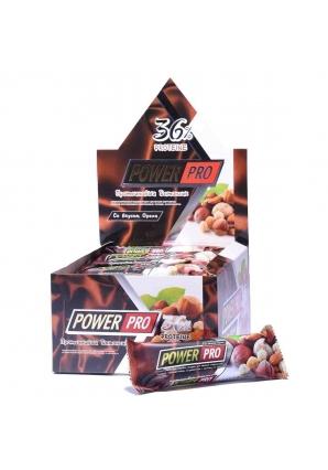 Протеиновый батончик 36% с орехами 20 шт 60 гр (Power Pro)