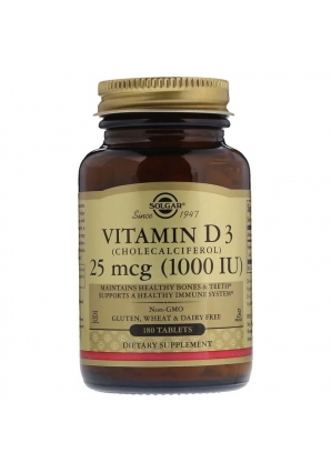 Vitamin D3 25 мкг (1000 МЕ) 180 табл (Solgar)