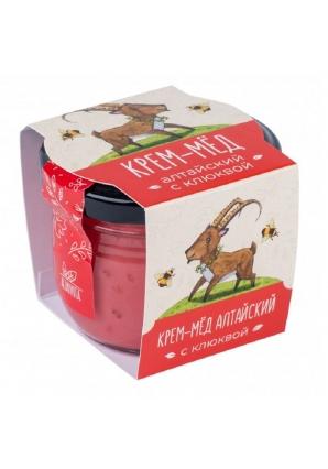 Алтайский крем-мёд с клюквой 125 гр (Altaivita)