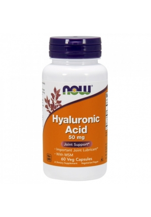 Hyaluronic Acid 50 мг + MSM 60 капс (NOW)