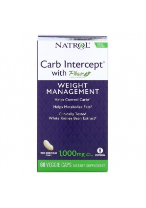 Carb Intercept with Phase 2 1000 мг 60 капс (Natrol)