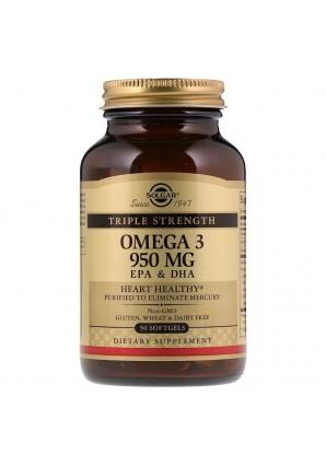 Omega-3 EPA & DHA Triple Strength 950 мг 50 капс (Solgar)