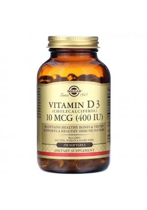 Vitamin D3 10 мкг (400 МЕ) 250 капс (Solgar)