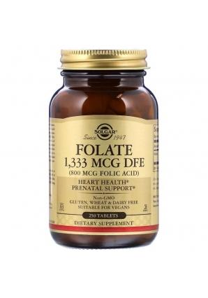 Folate 1333 мкг DFE 250 табл (Solgar)
